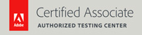 Adobe Certified Associate Authorized Testing Center logo badge
