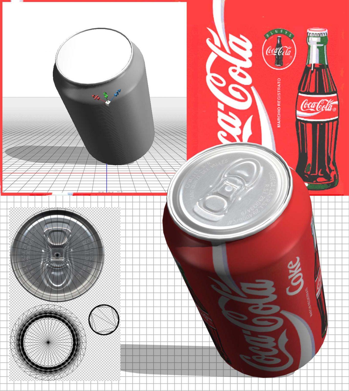 Lattina Coca Cola in 3D