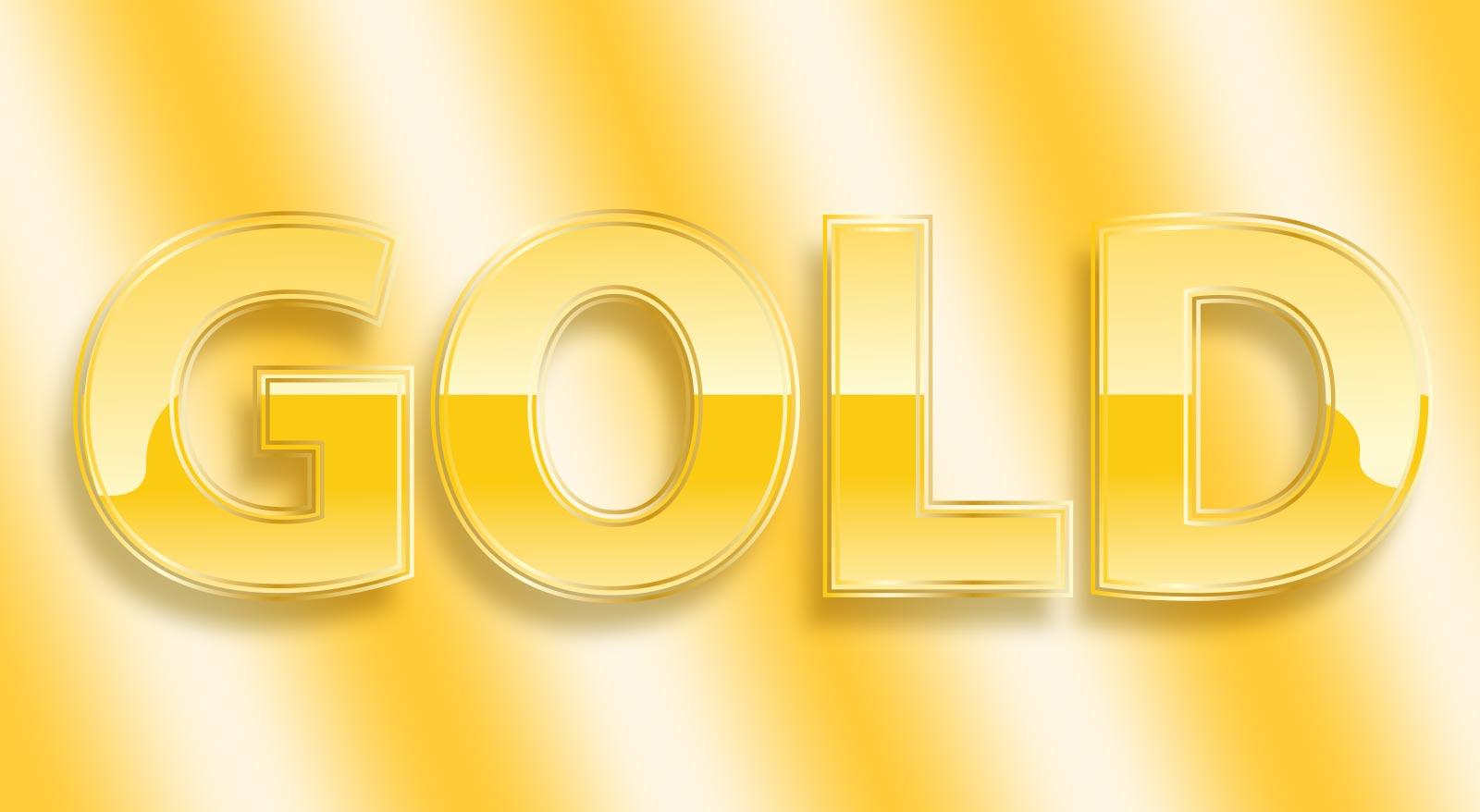 Lettering con effetto oro